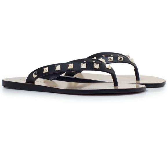 1d250ae23279 Valentino Rockstud Leather Sandals